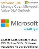 Licença Open Microsoft Value OLV Outlook SNGL Software Assurance No Level Additional Product 1 Year Acquired year 1  (Figura somente ilustrativa, não representa o produto real)