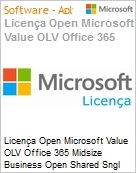 Licença mensal Microsoft Value OLV Office 365 Midsize Business Shared Sngl Monthly Subscriptions-Volume License 1 License No Level Additional Product Enterpris (Figura somente ilustrativa, não representa o produto real)