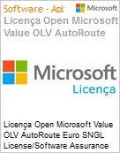 Licença Open Microsoft Value OLV AutoRoute Euro SNGL License/Software Assurance Pack [LicSAPk] No Level Additional Product 1 Year Acquired year 1 (Figura somente ilustrativa, não representa o produto real)