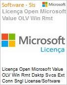 Licença Open Microsoft Value OLV Win Rmt Dsktp Svcs Ext Conn Sngl License/Software Assurance Pack [LicSAPk] 1 License No Level Additional Product 1 Year Acquired year 1 (Figura somente ilustrativa, não representa o produto real)