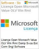Licença Open Microsoft Value OLV Win Rmt Dsktp Svcs Ext Conn Sngl Software Assurance 1 License No Level Additional Product 1 Year Acquired year 3 (Figura somente ilustrativa, não representa o produto real)