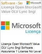 Licença Open Microsoft Value OLV Lync Sngl Software Assurance 1 License No Level Additional Product 1 Year Acquired year 2  (Figura somente ilustrativa, não representa o produto real)