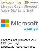 Licença Open Microsoft Value OLV Lync Sngl License/Software Assurance Pack [LicSAPk] 1 License No Level Additional Product 1 Year Acquired year 1 (Figura somente ilustrativa, não representa o produto real)