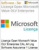 Licença Open Microsoft Value OLV Enterprise CAL All Lng Software Assurance 1 License No Level Platform User CAL User CAL w/ Services 1 Year Acquired year 1 (Figura somente ilustrativa, não representa o produto real)