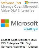 Licença Open Microsoft Value OLV Enterprise CAL Sngl Software Assurance 1 License No Level Additional Product User CAL User CAL w/ Services 2 Year Acquired year (Figura somente ilustrativa, não representa o produto real)