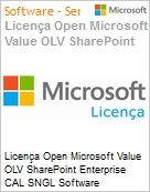 Licença Open Microsoft Value OLV SharePoint Enterprise CAL SNGL Software Assurance No Level Additional Product Device CAL Device CAL 1 Year Acquired year 2 (Figura somente ilustrativa, não representa o produto real)