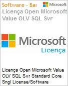 Licença Open Microsoft Value OLV SQL Svr Standard Core Sngl License/Software Assurance Pack [LicSAPk] 2 Licenses No Level Additional Product Core License 1 Year Acquired y (Figura somente ilustrativa, não representa o produto real)