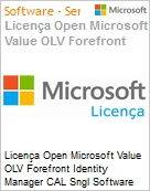 Licença Open Microsoft Value OLV Forefront Identity Manager CAL Sngl Software Assurance 1 License No Level Additional Product User CAL User CAL 3 Year Acquired y (Figura somente ilustrativa, não representa o produto real)