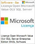 Licença Open Microsoft Value OLV SQL Server Enterprise Edition SNGL Software Assurance No Level Additional Product 1 Year Acquired year 3  (Figura somente ilustrativa, não representa o produto real)