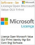 Licença Open Microsoft Value OLV Frfrnt Identity Mgr Ext Conn Sngl Software Assurance 1 License No Level Additional Product 2 Year Acquired year 2 (Figura somente ilustrativa, não representa o produto real)