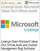 Licença Open Microsoft Value OLV Office Audit and Control Management Sngl Software Assurance 1 License No Level Additional Product 1 Year Acquired year 3 (Figura somente ilustrativa, não representa o produto real)