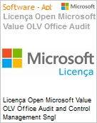 Licença Open Microsoft Value OLV Office Audit and Control Management SGNL License/Software Assurance Pack [LicSAPk] 1 License No Level Additional Product 3 Year Acquired y (Figura somente ilustrativa, não representa o produto real)
