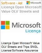 Licença Open Microsoft Value OLV Streets and Trips SNGL License/Software Assurance Pack [LicSAPk] No Level Additional Product 2 Year Acquired year 2 (Figura somente ilustrativa, não representa o produto real)