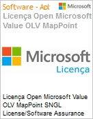 Licença Open Microsoft Value OLV MapPoint SNGL License/Software Assurance Pack [LicSAPk] No Level Additional Product 3 Year Acquired year 1  (Figura somente ilustrativa, não representa o produto real)