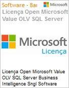 Licença Open Microsoft Value OLV SQL Server Business Intelligence Sngl Software Assurance 1 License No Level Additional Product 2 Year Acquired year 2 (Figura somente ilustrativa, não representa o produto real)