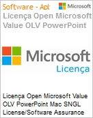 Licença Open Microsoft Value OLV PowerPoint Mac SNGL License/Software Assurance Pack [LicSAPk] No Level Additional Product 2 Year Acquired year 2 (Figura somente ilustrativa, não representa o produto real)