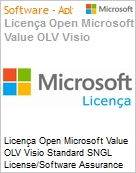Licença Open Microsoft Value OLV Visio Standard SNGL License/Software Assurance Pack [LicSAPk] No Level Additional Product 2 Year Acquired year 2 (Figura somente ilustrativa, não representa o produto real)