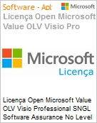 Licença Open Microsoft Value OLV Visio Professional SNGL Software Assurance No Level Additional Product 1 Year Acquired year 3  (Figura somente ilustrativa, não representa o produto real)
