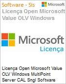 Licença Open Microsoft Value OLV Windows MultiPoint Server CAL SGNL Software Assurance 1 License No Level Additional Product wWIN SVR CAL CAL User CAL User 2 Yea (Figura somente ilustrativa, não representa o produto real)