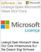 Licença Open Microsoft Value OLV Intel Core infrastructure Svr Ste Datactr Sngl Software Assurance 1 License No Level Additional Product 2 PROC 1 Year Acquired year 1 (Figura somente ilustrativa, não representa o produto real)