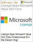 Licença Open Microsoft Value OLV Intel Core infrastructure Svr Ste Datactr Sngl License/Software Assurance Pack [LicSAPk] 1 License No Level Additional Product 2 PROC 1 Year Acq (Figura somente ilustrativa, não representa o produto real)