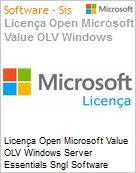 Licença Open Microsoft Value OLV Windows Server Essentials Sngl Software Assurance 1 License No Level Additional Product 3 Year Acquired year 1 (Figura somente ilustrativa, não representa o produto real)