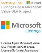 Licença Open Microsoft Value OLV Project Server SNGL License/Software Assurance Pack [LicSAPk] No Level Additional Product 1 Year Acquired year 3 (Figura somente ilustrativa, não representa o produto real)