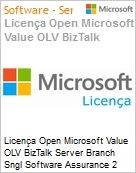 Licença Open Microsoft Value OLV BizTalk Server Branch Sngl Software Assurance 2 Licenses No Level Additional Product Core License 1 Year Acquired year 1 (Figura somente ilustrativa, não representa o produto real)