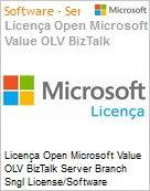 Licença Open Microsoft Value OLV BizTalk Server Branch Sngl License/Software Assurance Pack [LicSAPk] 2 Licenses No Level Additional Product Core License 3 Year Acquired y (Figura somente ilustrativa, não representa o produto real)
