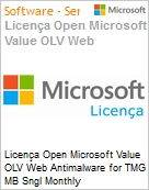 Licença mensal Microsoft Value OLV Web Antimalware for TMG MB Sngl Monthly Subscriptions-Volume License 1 License No Level Additional Product Per User 1 Month (Figura somente ilustrativa, não representa o produto real)