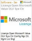 Licença Open Microsoft Value OLV Sys Ctr Config Mgr Clt Mgmt Lic Sngl License/Software Assurance Pack [LicSAPk] 1 License No Level Additional Product Per User 1 Year Acqui (Figura somente ilustrativa, não representa o produto real)