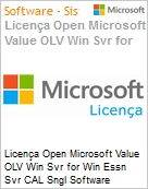Licença Open Microsoft Value OLV Win Svr for Win Essn Svr CAL Sngl Software Assurance 5 Licenses No Level Additional Product User CAL User CAL 1 Year Acquired ye (Figura somente ilustrativa, não representa o produto real)