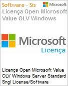 Licença Open Microsoft Value OLV Windows Server Standard Sngl License/Software Assurance Pack [LicSAPk] 1 License No Level Additional Product 2 PROC 2 Year Acquired year (Figura somente ilustrativa, não representa o produto real)