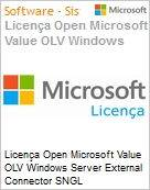 Licença Open Microsoft Value OLV Windows Server External Connector SNGL License/Software Assurance Pack [LicSAPk] No Level Additional Product 1 Year Acquired year 1 (Figura somente ilustrativa, não representa o produto real)