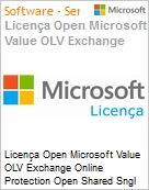 Licença mensal Microsoft Value OLV Exchange Online Protection Open Shared Sngl Monthly Subscriptions-Volume License 1 License No Level Additional Product 1 Month (Figura somente ilustrativa, não representa o produto real)