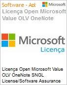Licença Open Microsoft Value OLV OneNote SNGL License/Software Assurance Pack [LicSAPk] No Level Additional Product 1 Year Acquired year 2  (Figura somente ilustrativa, não representa o produto real)