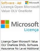 Licença Open Microsoft Value OLV OneNote SNGL Software Assurance No Level Additional Product 2 Year Acquired year 2  (Figura somente ilustrativa, não representa o produto real)