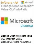 Licença Open Microsoft Value OLV InfoPath SGNL License/Software Assurance Pack [LicSAPk] No Level Additional Product 1 Year Acquired year 1  (Figura somente ilustrativa, não representa o produto real)