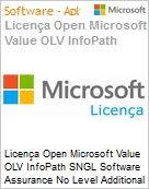 Licença Open Microsoft Value OLV InfoPath SGNL Software Assurance No Level Additional Product 1 Year Acquired year 2  (Figura somente ilustrativa, não representa o produto real)