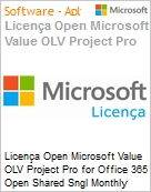 Licença mensal Microsoft Value OLV Project Pro for Office 365 Shared Sngl Monthly Subscriptions-Volume License 1 License No Level Additional Product 1 Month (Figura somente ilustrativa, não representa o produto real)