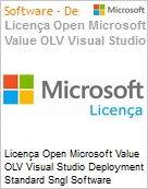 Licença Open Microsoft Value OLV Visual Studio Deployment Standard Sngl Software Assurance 1 License No Level Additional Product 2 PROC 3 Year Acquired year 1 (Figura somente ilustrativa, não representa o produto real)