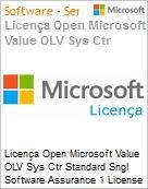Licença Open Microsoft Value OLV Sys Ctr Standard Sngl Software Assurance 1 License No Level Additional Product 2 PROC 3 Year Acquired year 1  (Figura somente ilustrativa, não representa o produto real)