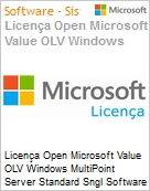 Licença Open Microsoft Value OLV Windows MultiPoint Server Standard Sngl Software Assurance 1 License No Level Additional Product 1 Year Acquired year 3 (Figura somente ilustrativa, não representa o produto real)