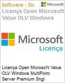 Licença Open Microsoft Value OLV Windows MultiPoint Server Premium Sngl License/Software Assurance Pack [LicSAPk] 1 License No Level Additional Product 1 Year Acquired yea (Figura somente ilustrativa, não representa o produto real)