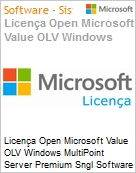 Licença Open Microsoft Value OLV Windows MultiPoint Server Premium SGNL Software Assurance 1 License No Level Additional Product 1 Year Acquired year 3 (Figura somente ilustrativa, não representa o produto real)