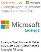 Licença Open Microsoft Value OLV Core CAL (Client Access License) All Lang License/Software Assurance Pack [LicSAPk] No Level Enterprise Device CAL 2 Year Acquired year 2 (Figura somente ilustrativa, não representa o produto real)