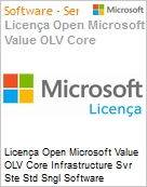 Licença Open Microsoft Value OLV Intel Core infrastructure Svr Ste Std Sngl Software Assurance 1 License No Level Additional Product 2 PROC 1 Year Acquired year 3 (Figura somente ilustrativa, não representa o produto real)