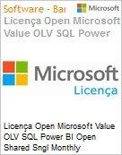 Licença mensal Microsoft Value OLV SQL Power BI Open Shared SGNL Monthly Subscriptions-Volume License 1 License No Level Additional Product 1 Month (Figura somente ilustrativa, não representa o produto real)