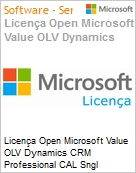 Licença Open Microsoft Value OLV Dynamics CRM Professional CAL Sngl Software Assurance 1 License No Level Additional Product User CAL User CAL 1 Year Acquired ye (Figura somente ilustrativa, não representa o produto real)