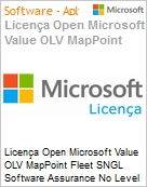 Licença Open Microsoft Value OLV MapPoint Fleet SNGL Software Assurance No Level Additional Product 1 Year Acquired year 1  (Figura somente ilustrativa, não representa o produto real)
